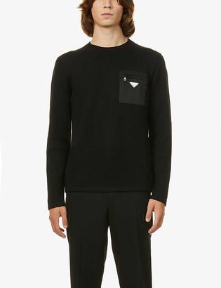 Prada Nylon pocket-embellished wool jumper