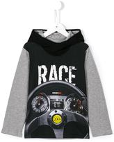 John Galliano race print hoodie