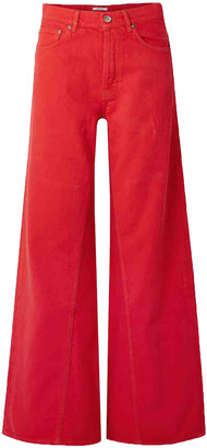 Ganni Fall Winter 2019 Red Cotton Jeans