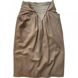 Genny Green Wool Skirt for Women