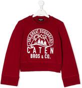 DSQUARED2 logo print sweatshirt - kids - Cotton - 16 yrs