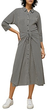 Whistles Stripe Selma Tie Dress