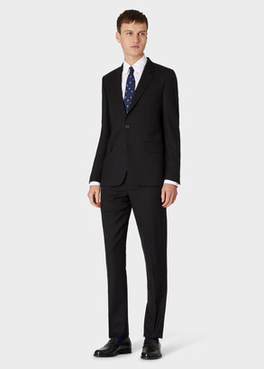 The Soho - Men's Tailored-Fit Black Wool 'A Suit To Travel In'