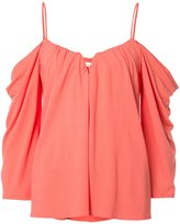 Nicole Miller cold-shoulder top