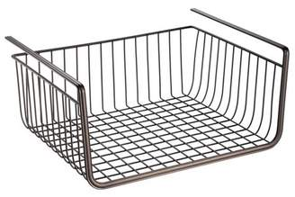 """InterDesign iDESIGN York Lyra Under-the-Shelf Steel Wire Basket 12.5"""" Bronze"""