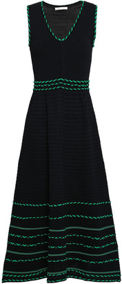 Maje Romaine Stretch-knit Midi Dress