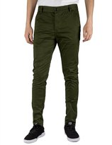 Italy Morn Men Chino Pants Khaki Slim Fit Stretch Cotton Twill Fabric Trousers (S, )