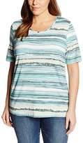 Via Appia Women's Kurzarm T-shirt Mit Rundhals Bedruckt Striped T-Shirt