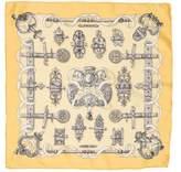 Hermes Ferronnerie Silk Pocket Square
