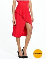 Ted Baker Frill Front Asymmetric Skirt