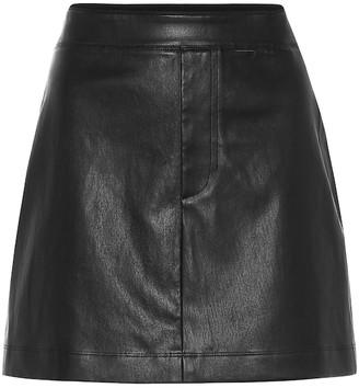 Helmut Lang Leather miniskirt