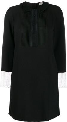 Sandro Paris lace-detail mini dress