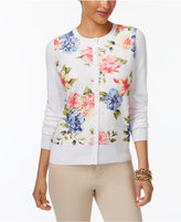 Charter Club Floral-Print Lace Cardigan, Created for Macy's