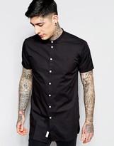 Minimum Contrast Button Short Sleeve Shirt