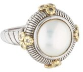 Judith Ripka Two-Tone Pearl & Sapphire Ring
