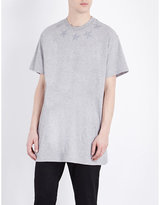 Givenchy Star Appliquéd Cotton-jersey T-shirt