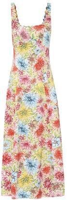 ALEXACHUNG Kitty floral midi dress