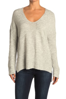 Lush V-Neck Pointelle Knit Sweater