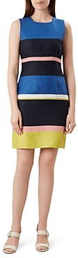 Hobbs London Ives Striped Linen Sheath Dress