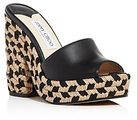 Jimmy Choo Women's Deedee 125 High Block-Heel Platform Slide Sandals