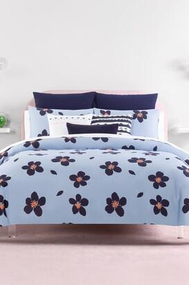 Kate Spade Blue Grand Floral Twin Xl Comforter Set