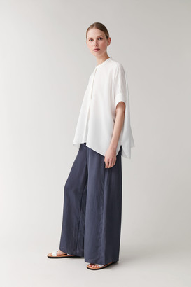 Cos Mulberry Silk Wide-Leg Trousers