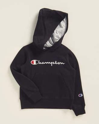 Champion Boys 4-7) Script Logo Long Sleeve Hoodie