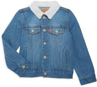 Levi's Little Boy's & Boys Faux Shearling-Trim Denim Jacket
