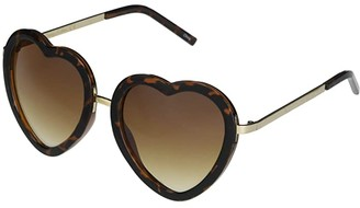 Sam Edelman Heart Shaped with Metal Accents (Tortoise) Fashion Sunglasses