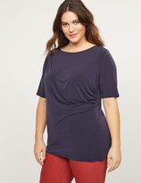 Lane Bryant Perfect Sleeve Ruched Top