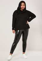 Missguided Plus Size Black Roll Neck Jumper