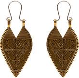 LHN Jewelry Brass Lazarus Spear Earrings