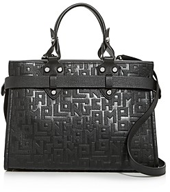 Longchamp La Voyaguese Large Leather Satchel