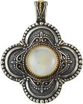 Konstantino Erato Labradorite Doublet Rounded Cross Pendant Enhancer