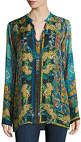 Johnny Was Sathya Silk Printed Georgette Blouse, Plus Size