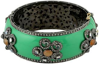 Artisan Jewelry Artisan 18K & Silver 14.52 Ct. Tw. Diamond & Moonstone Bangle
