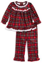 Little Me Infant Girl's Plaid Top & Pants Set