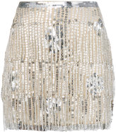 Mes Demoiselles sequined fringed skirt