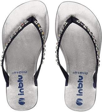 inblu Girls' Sissy Flip Flops, (Blu), 11UK Child