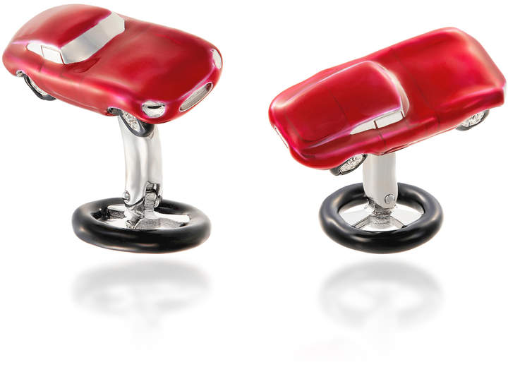 Jan Leslie Sports Car Stirling Silver Cufflinks