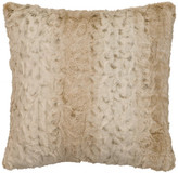 "Wooded River Pearl Leopard Fur Pillow, 18""x18"""