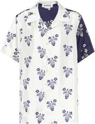 Monse Printed silk-twill shirt