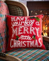Mackenzie Childs MacKenzie-Childs Merry Little Christmas Pillow