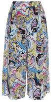 Etro Paisley-print wide-leg cropped silk trousers