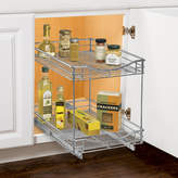 Lynk Professional Roll Out Double Shelf Pull Out Two Tier Sliding Under Cabinet Organizer