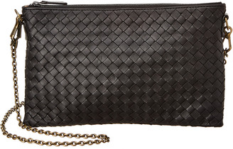 Bottega Veneta Biletto Chain Intrecciato Leather Crossbody