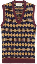 Gucci Wool lurex argyle waistcoat
