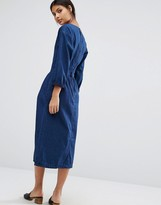 Warehouse Zip Back Midi Dress