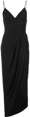 Shona Joy Wrap Skirt Fitted Dress