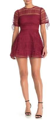 Tularosa Eden Lace Fit & Flare Dress